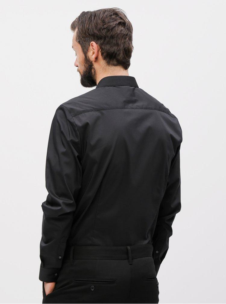 Černá skinny fit košile Burton Menswear London