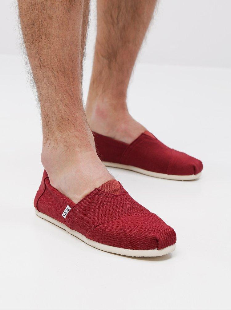 Červené pánské espadrilky TOMS
