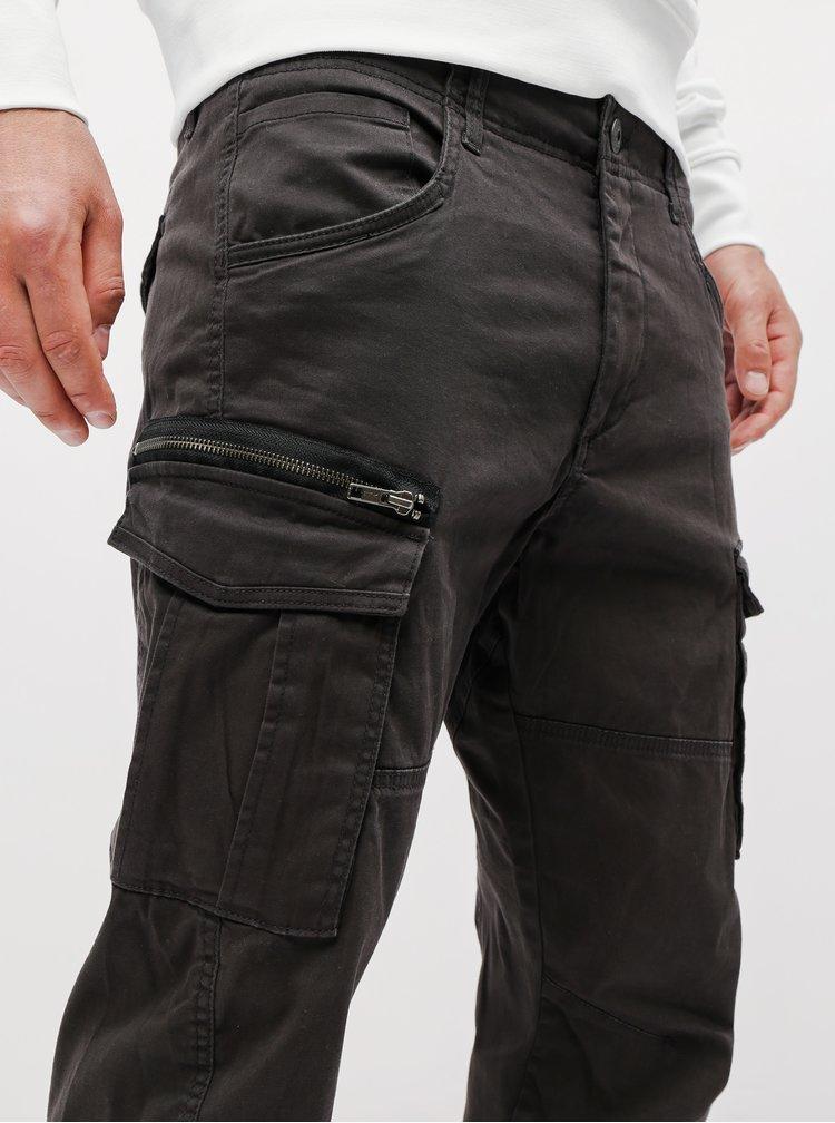 Pantaloni negri cu buzunare Jack & Jones