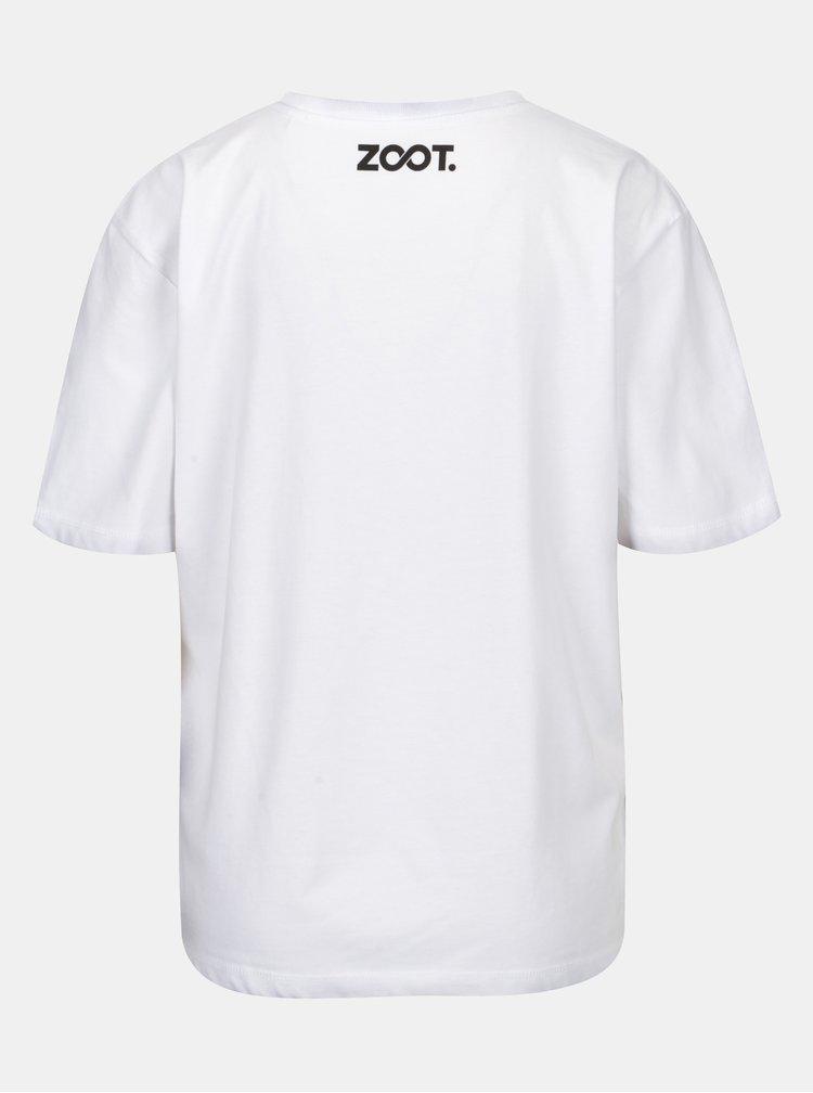 Bílé dámské oversize tričko ZOOT Original Boobs with Piercing