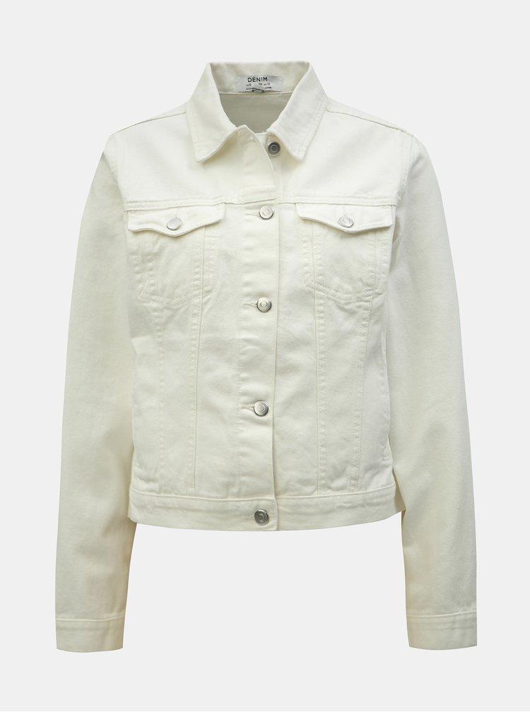 Jacheta alba din denim Dorothy Perkins