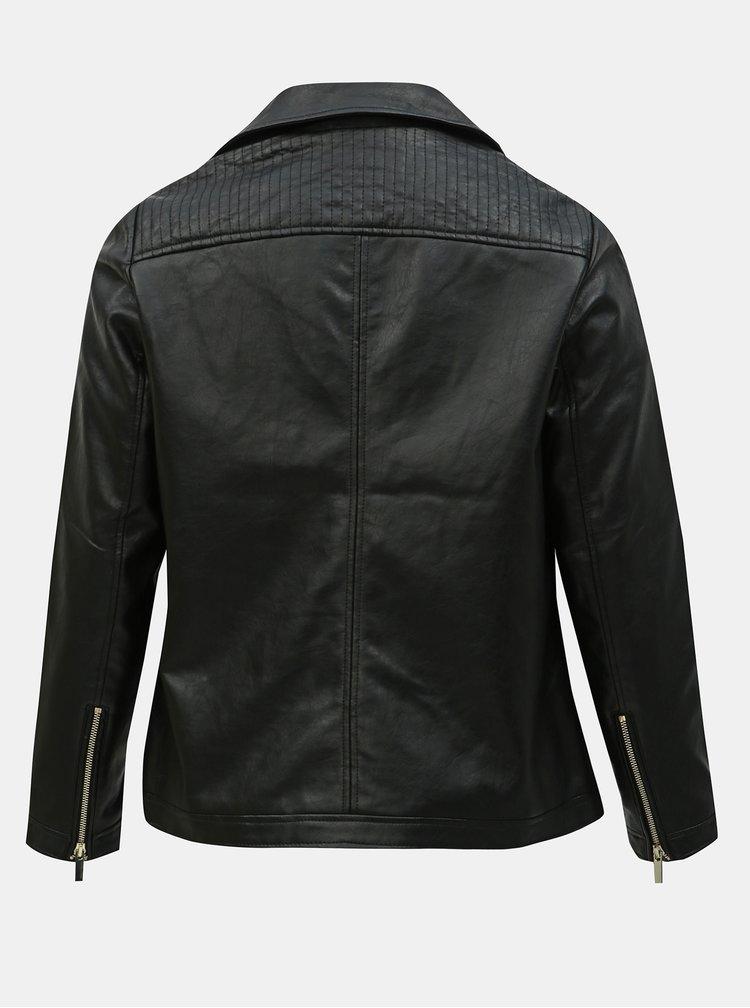 Jacheta biker neagra din piele sintetica Dorothy Perkins Curve