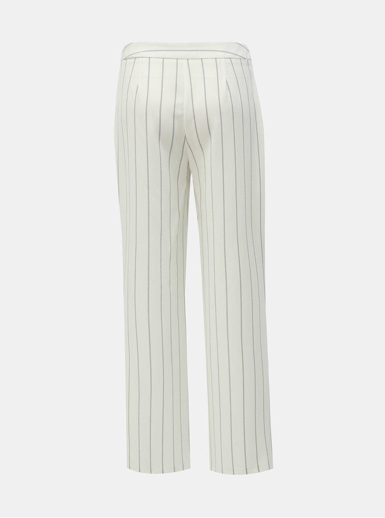 Biele pruhované nohavice Dorothy Perkins