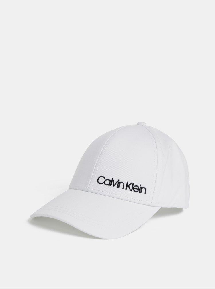 Bílá kšiltovka Calvin Klein Jeans
