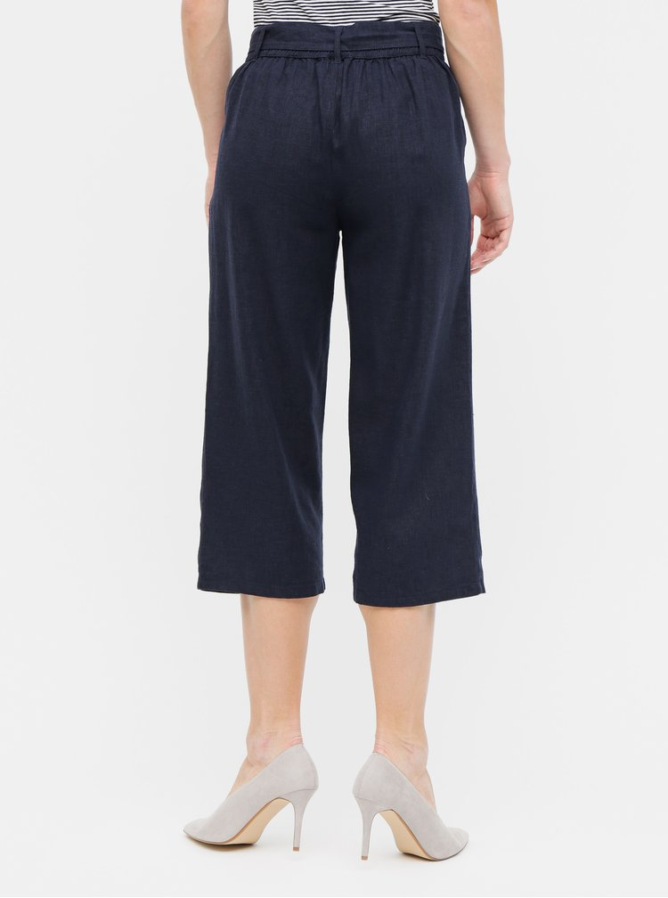 Pantaloni culottes albastru inchis din in Jacqueline de Yong Jake