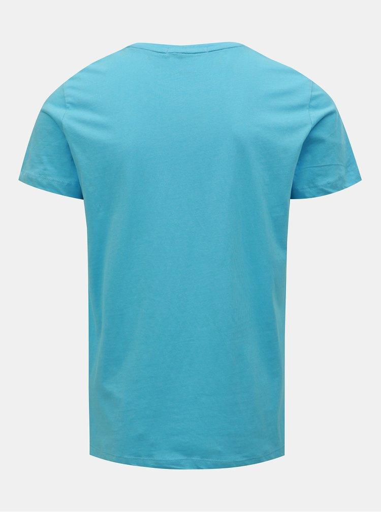 Modré pánske tričko Calvin Klein Jeans
