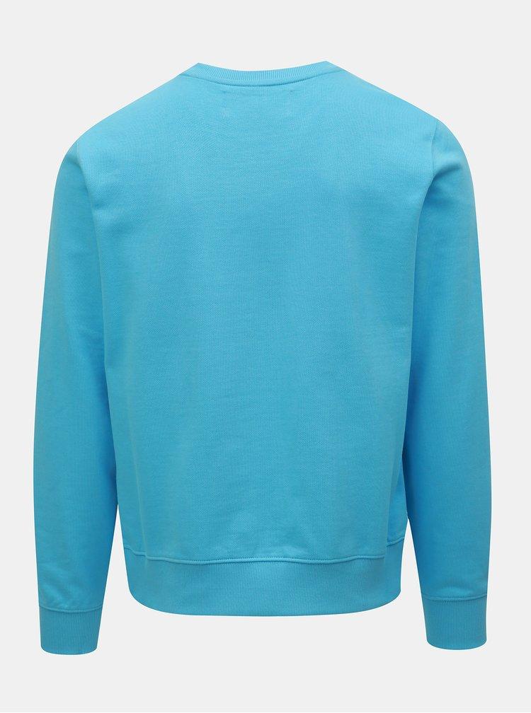 Modrá pánska mikina s potlačou Calvin Klein Jeans