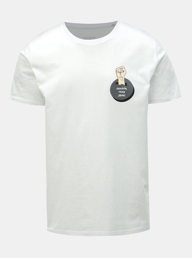 Bílé pánské hokejové tričko ZOOT Original Fandím, teda som