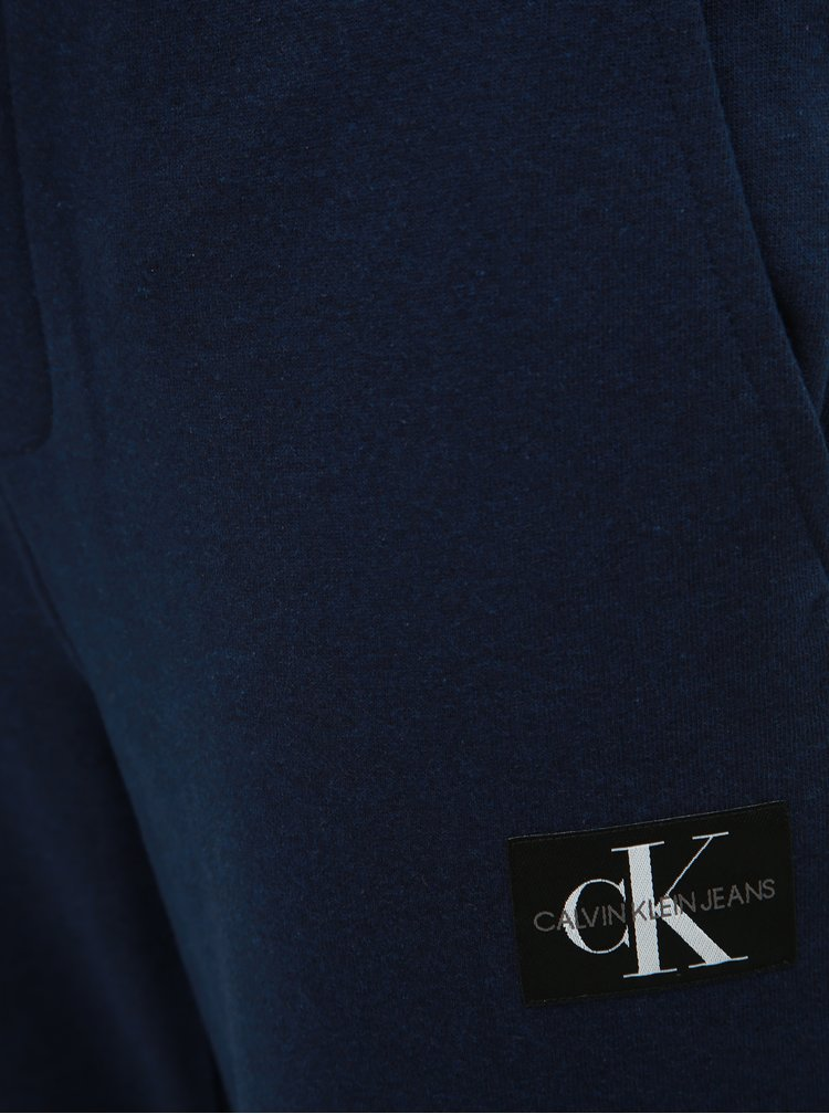 Tmavomodré pánske tepláky Calvin Klein Jeans