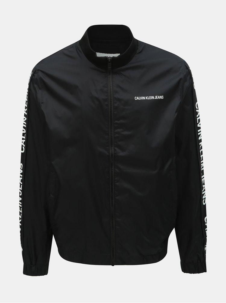 Čierna pánska tenká bunda Calvin Klein Jeans