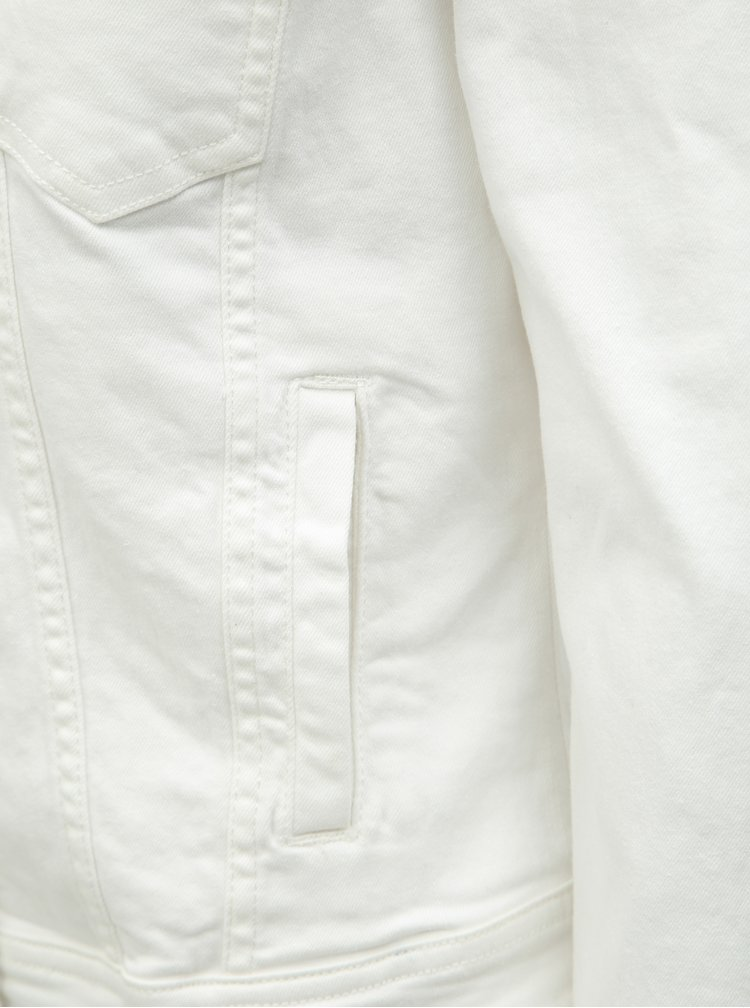 Biela rifľová bunda ONLY Tia