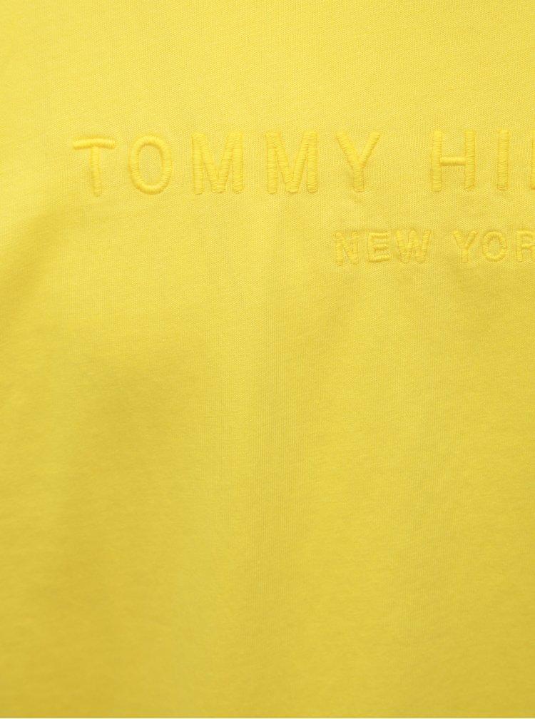 Žlté pánske tričko Tommy Hilfiger