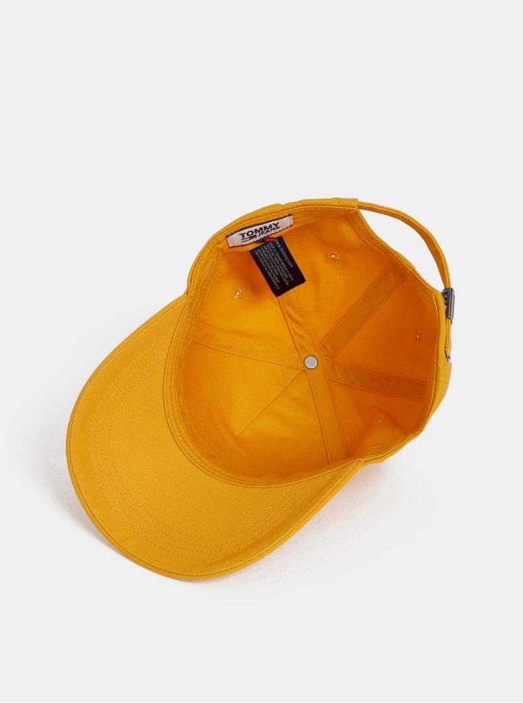 Oranžová dámska šiltovka s výšivkou Tommy Hilfiger