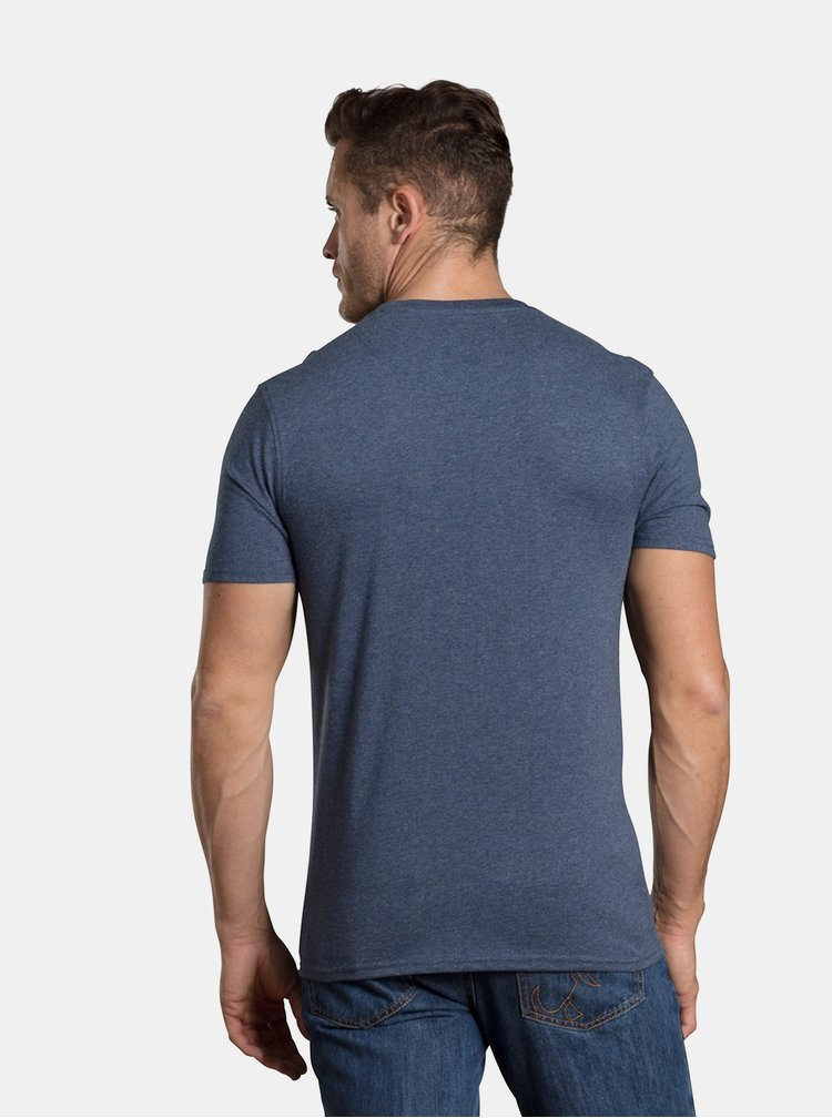 Tricou albastru inchis cu imprimeu Raging Bull