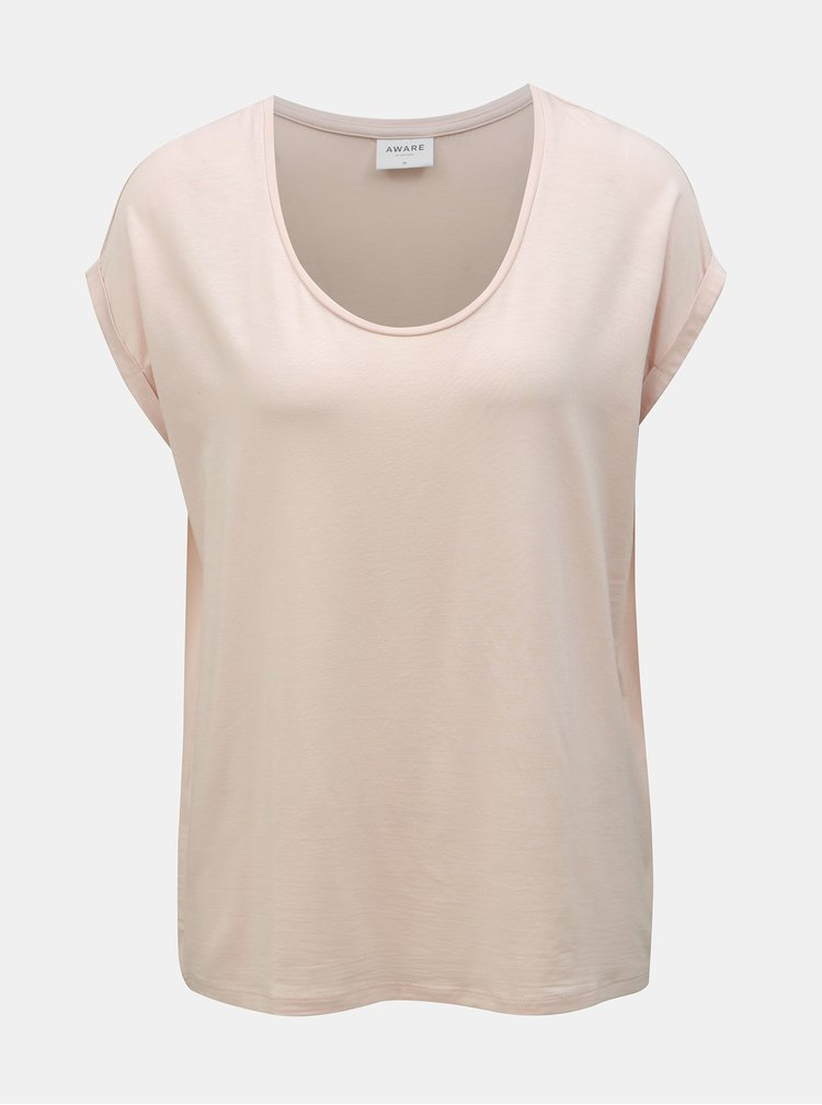 Tricou basic roz deschis AWARE by VERO MODA Cina