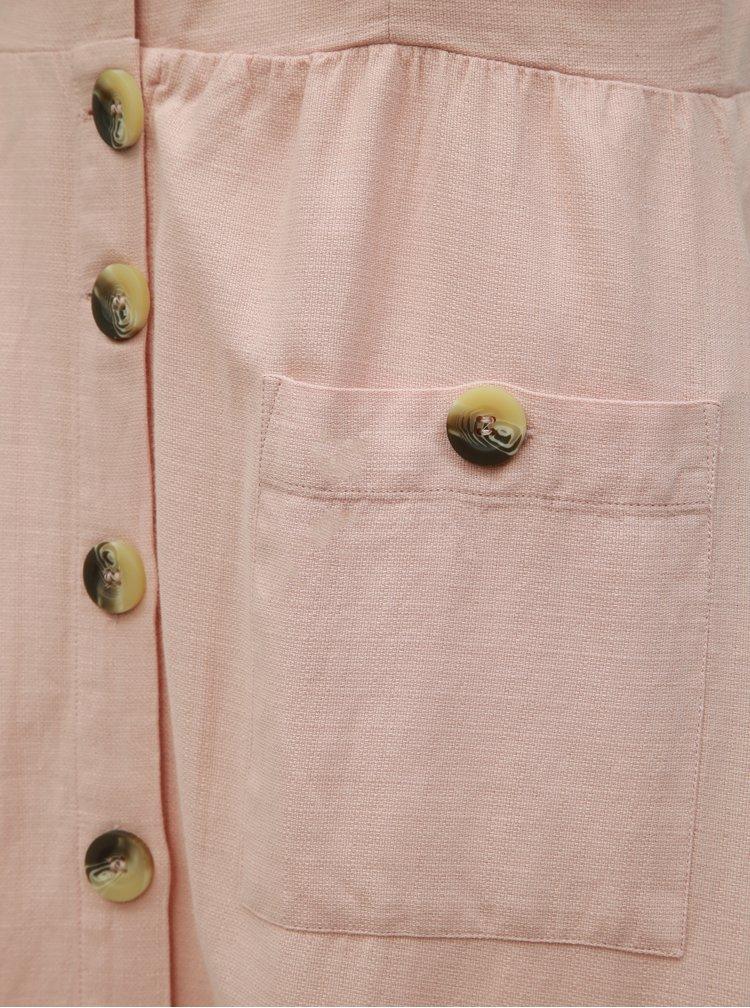 Rochie midi roz deschis VILA Luna