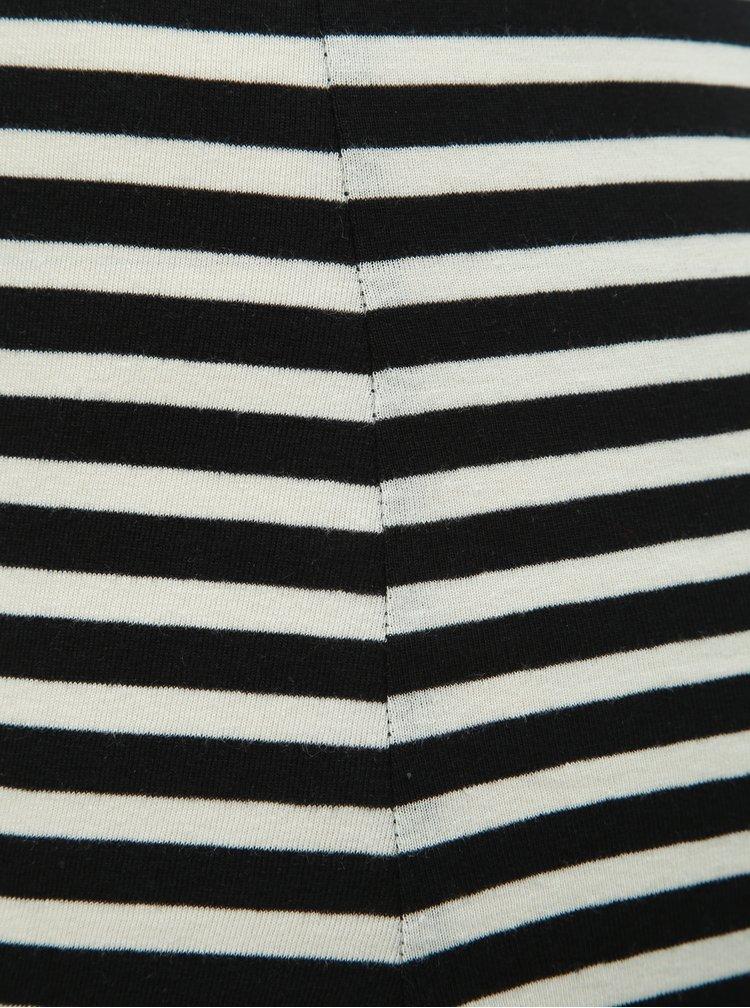 Bílo-černé pruhované basic maxišaty Noisy May Heather