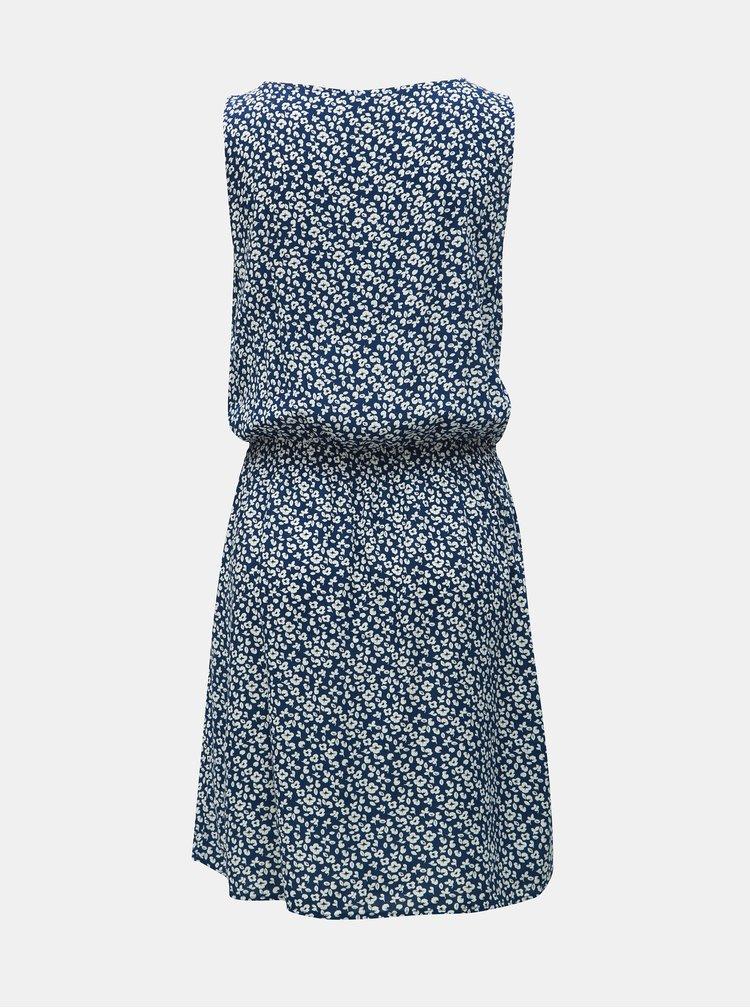 Modré květované šaty Jacqueline de Yong Star