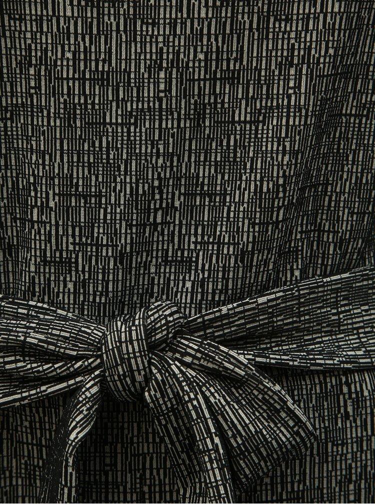 Černý vzorovaný overal Dorothy Perkins Tall