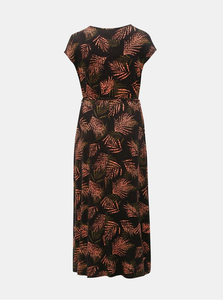 Černé vzorované maxišaty Dorothy Perkins Curve