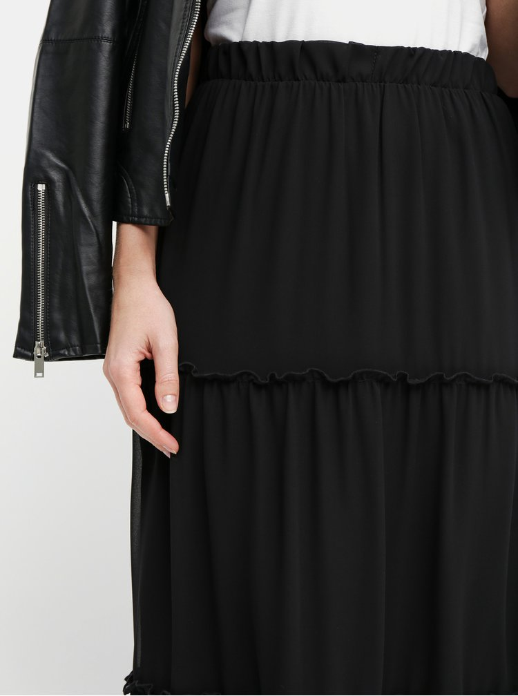 Fusta maxi neagra ONLY Star