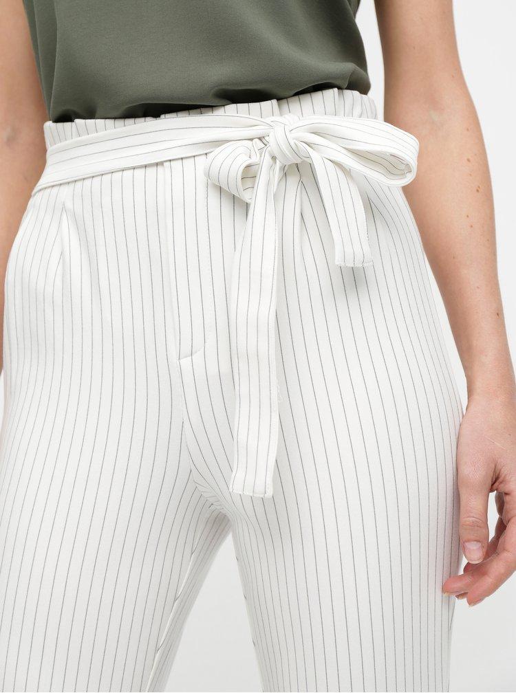 Pantaloni crem in dungi ONLY Florence