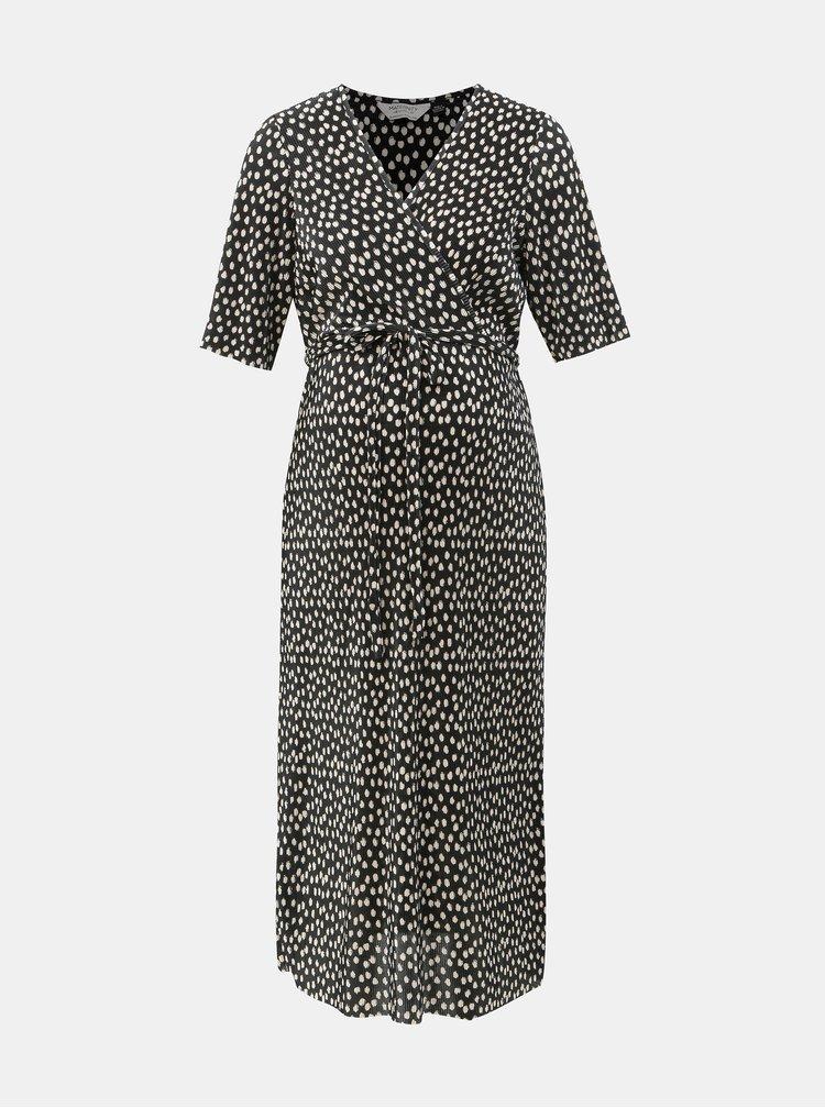 Rochie plisata neagra cu buline pentru femei insarcinate Dorothy Perkins Maternity