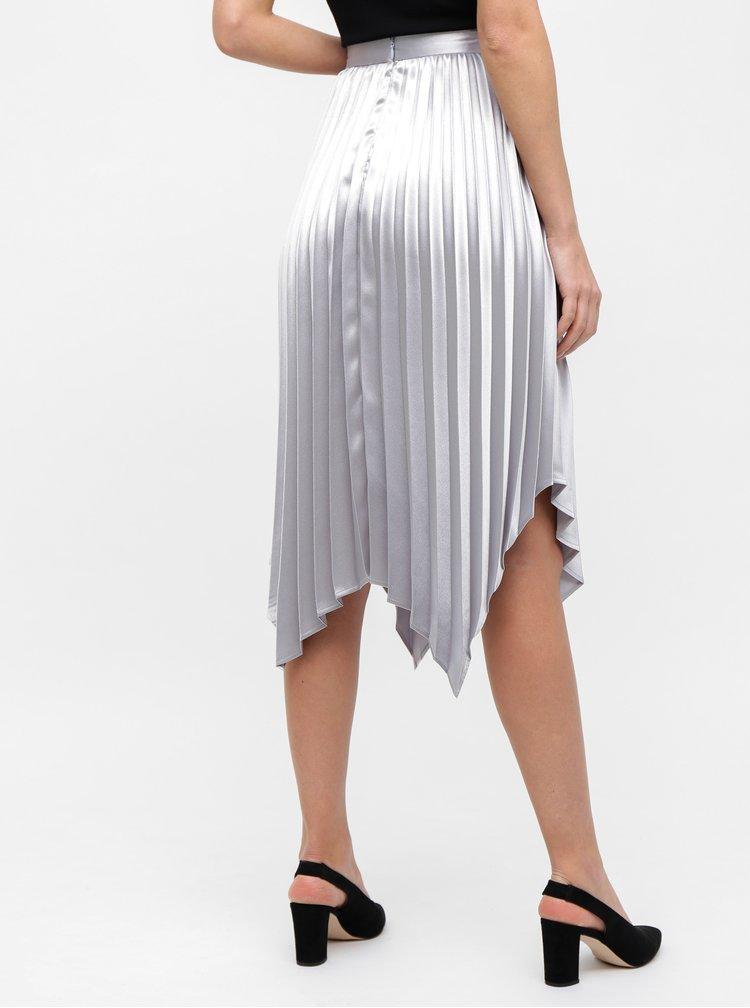 Plisovaná sukně ve stříbrné barvě Dorothy Perkins