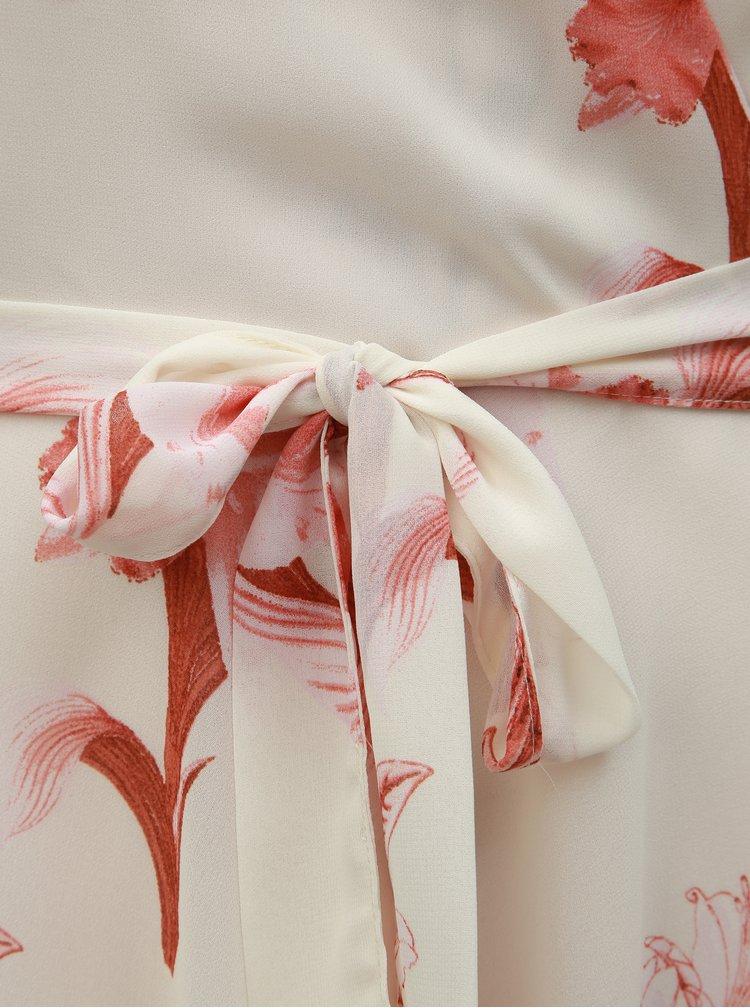 Krémové květované maxišaty Dorothy Perkins Tall