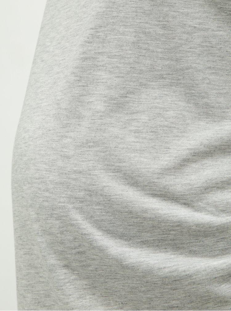 Tricou gri melanj pentru femei insarcinate Dorothy Perkins Maternity