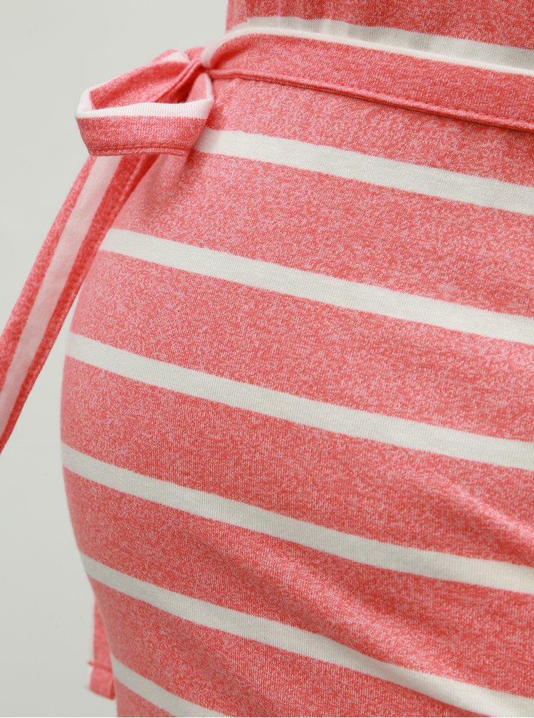 Rochie roz in dungi pentru femei insarcinate Mama.licious Annetta