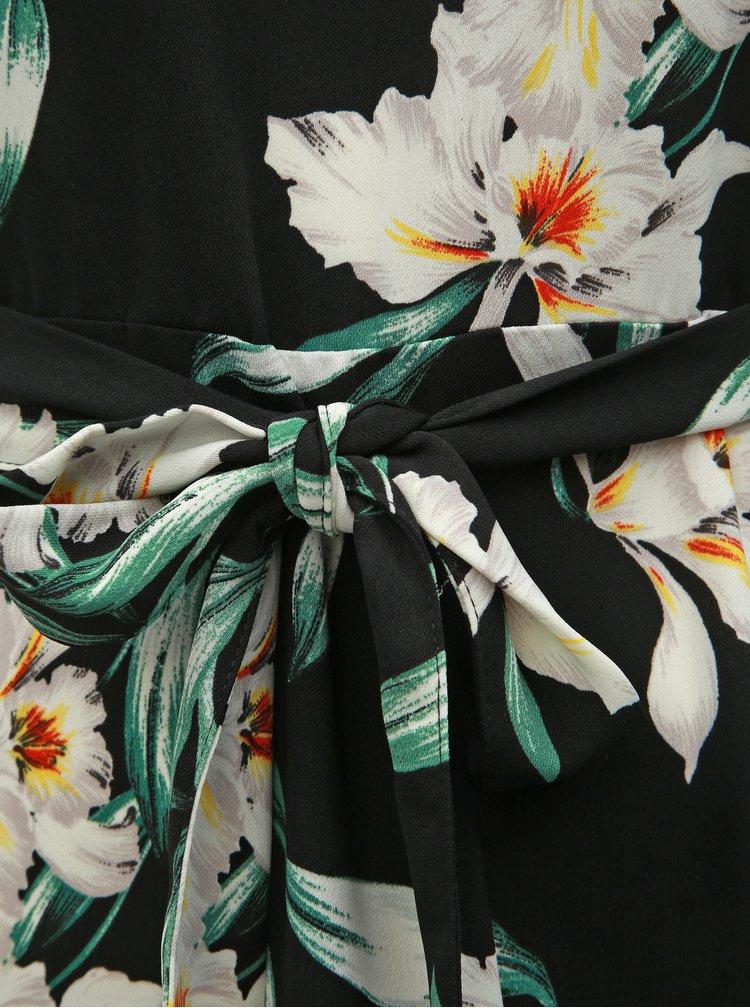Rochie neagra florala Dorothy Perkins Petite