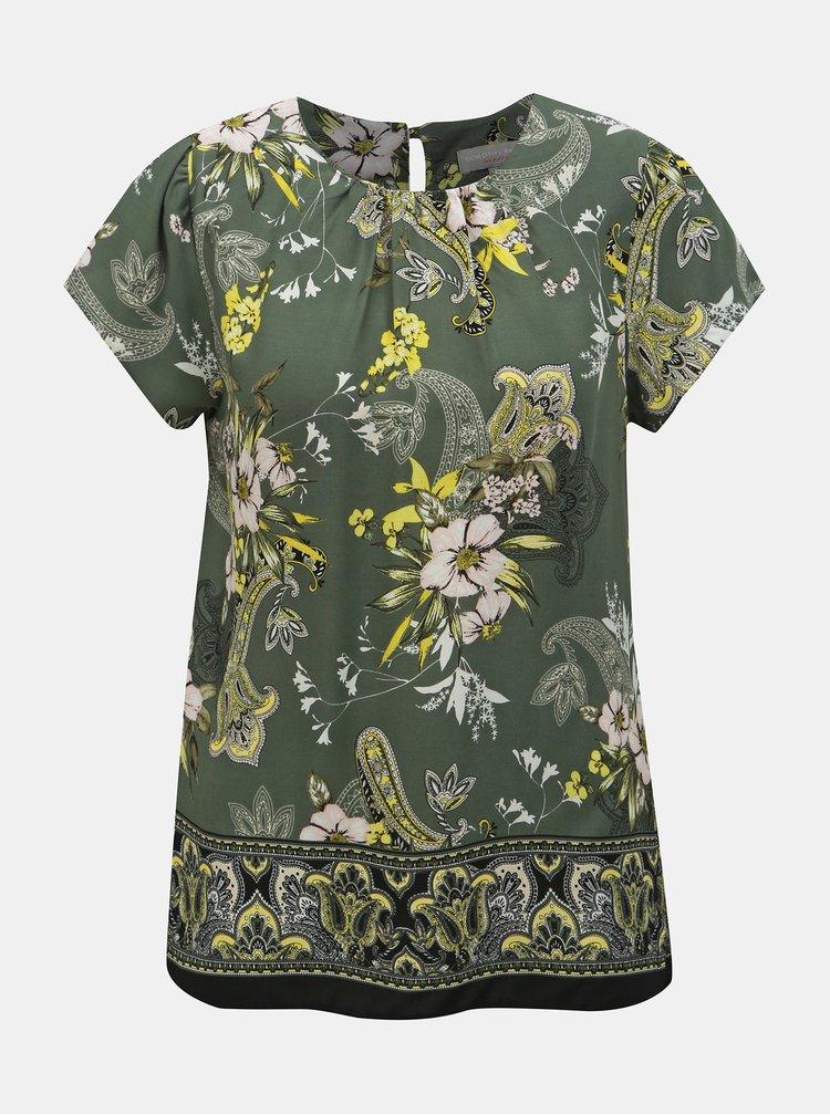 Bluza kaki florala Dorothy Perkins Petite