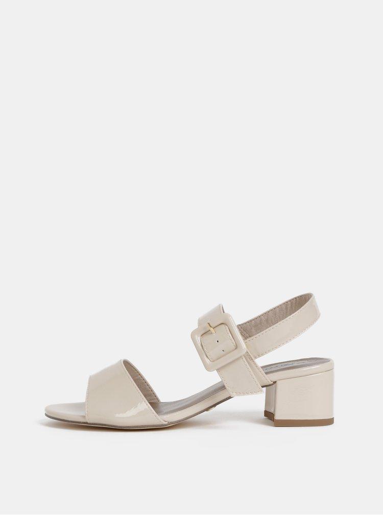 Béžové lesklé sandály Tamaris