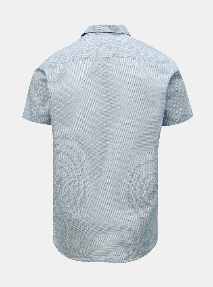Světle modrá vzorovaná slim fit košile Selected Homme Chris