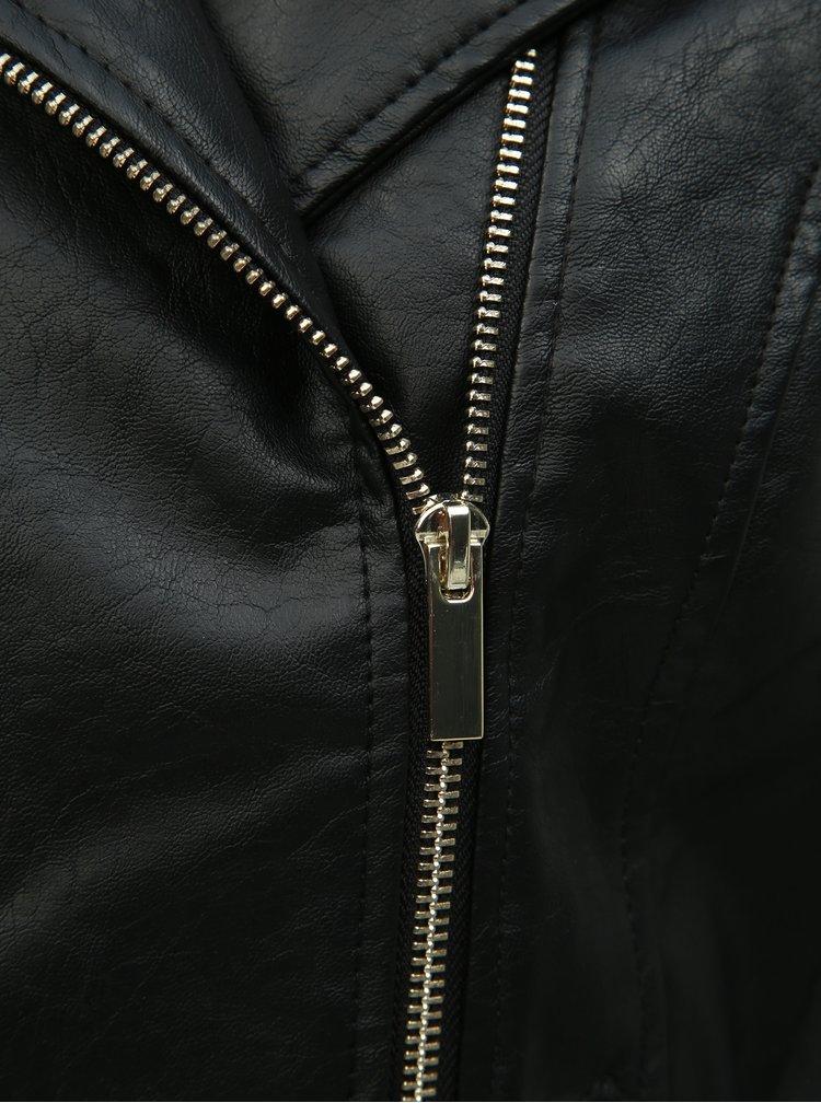 Černý koženkový křivák Dorothy Perkins Tall