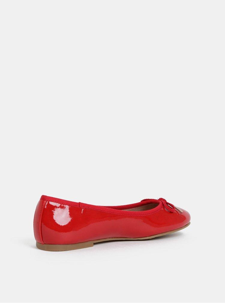 Červené baleríny Tamaris