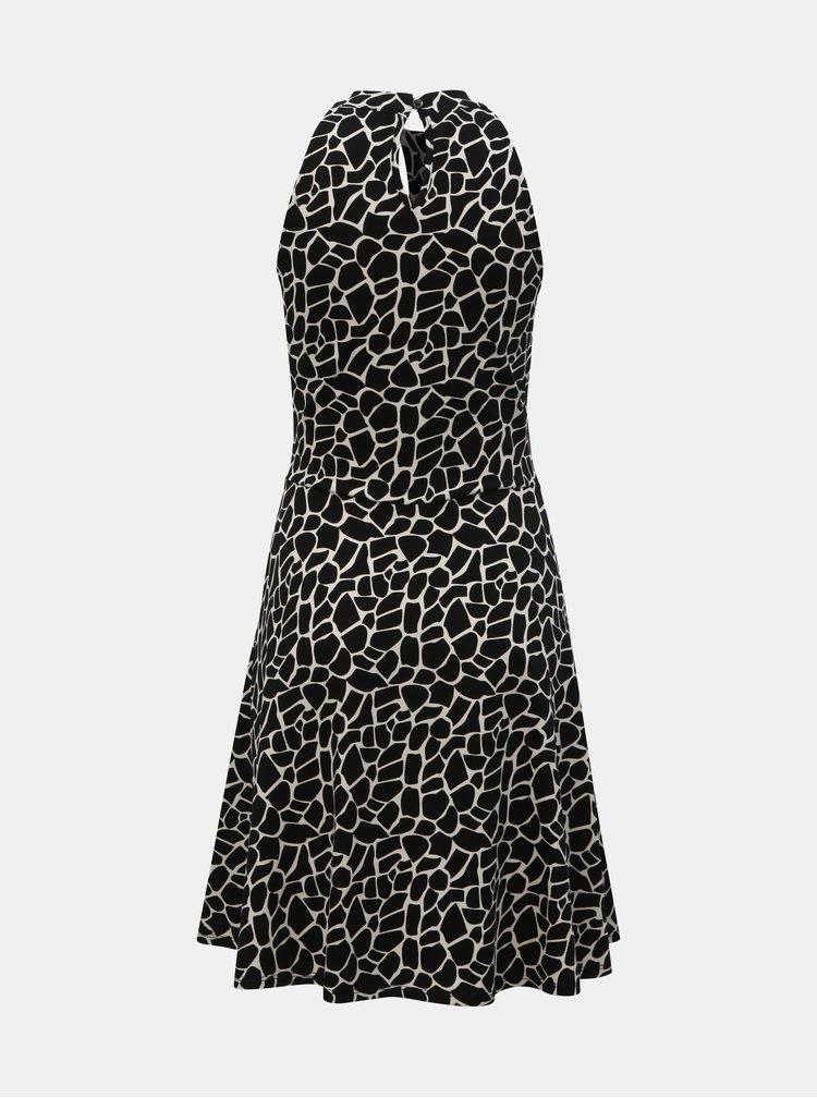Bílo-černé vzorované šaty Dorothy Perkins