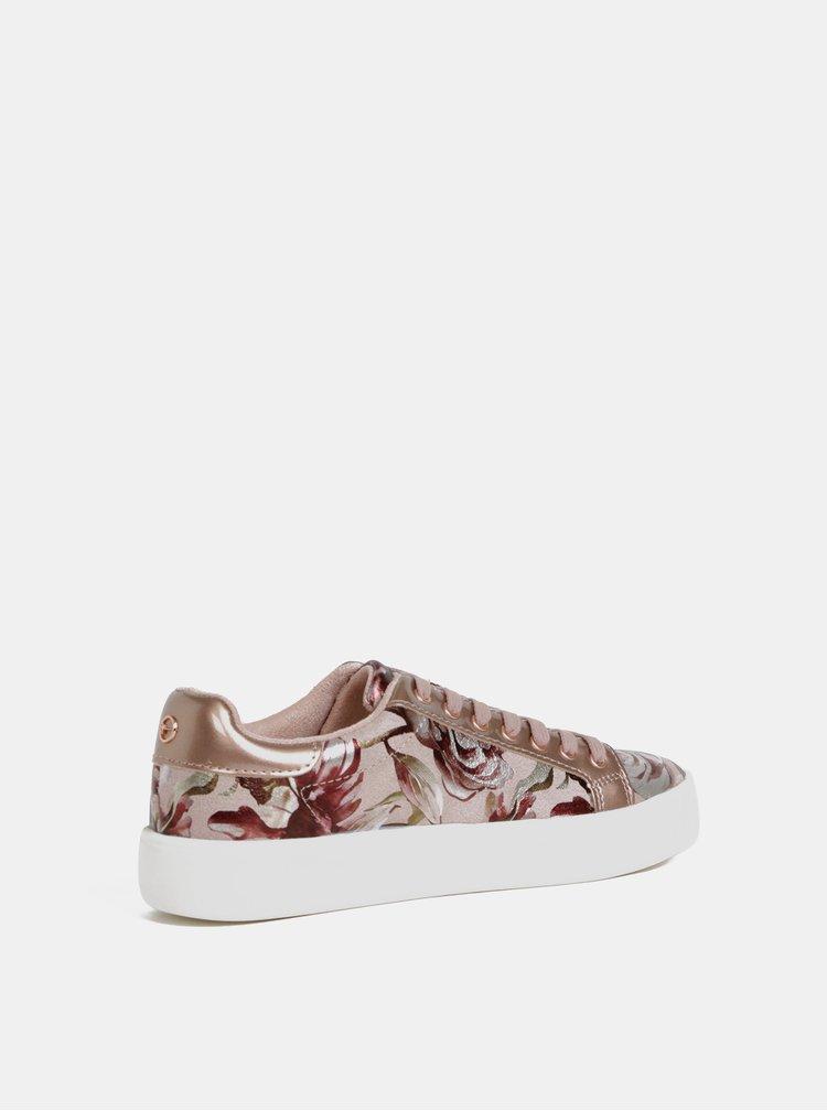Pantofi sport roz florali Tamaris