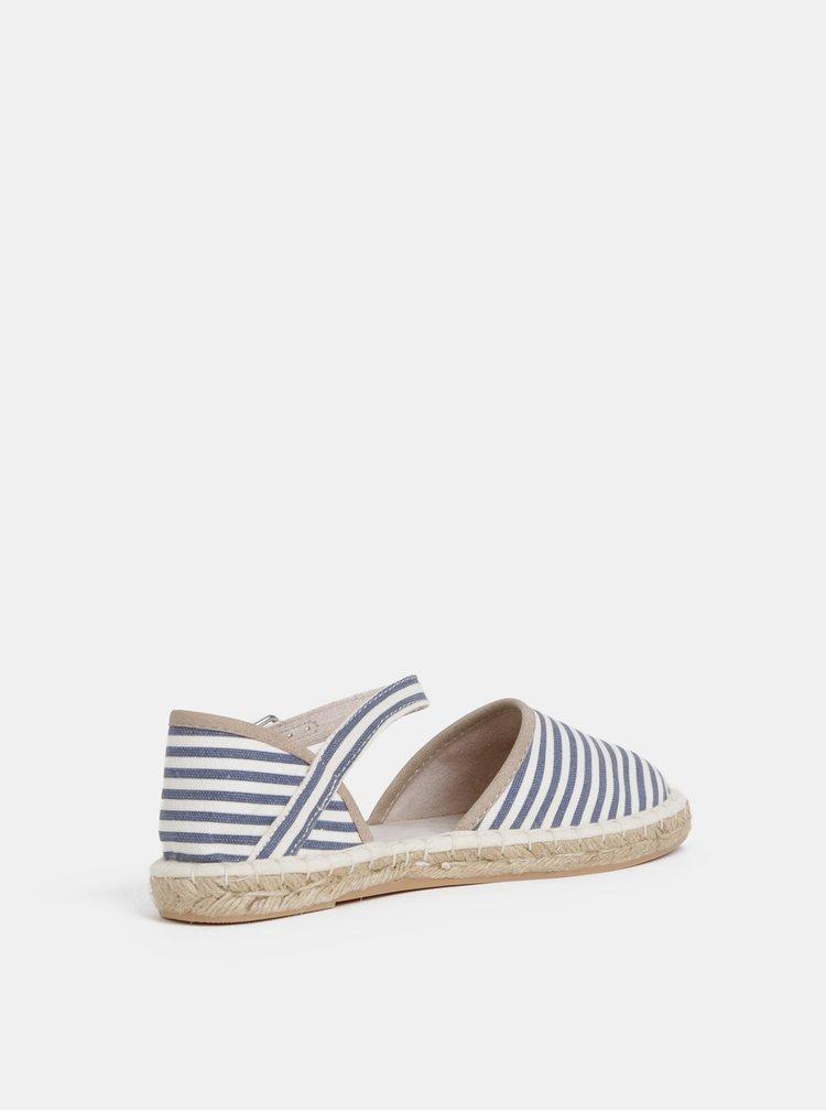 Bílo-modré sandály Tamaris