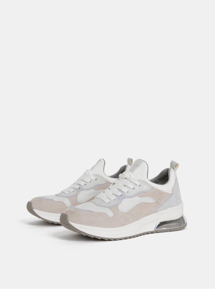 Pantofi sport crem Tamaris