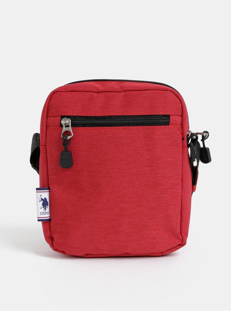 Červená pánská crossbody taška U.S. Polo Assn.