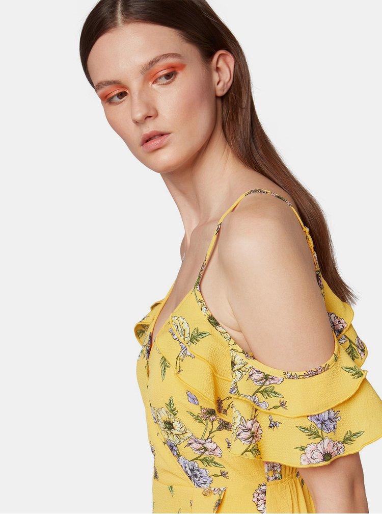 Rochie galbena florala Tom Tailor Denim