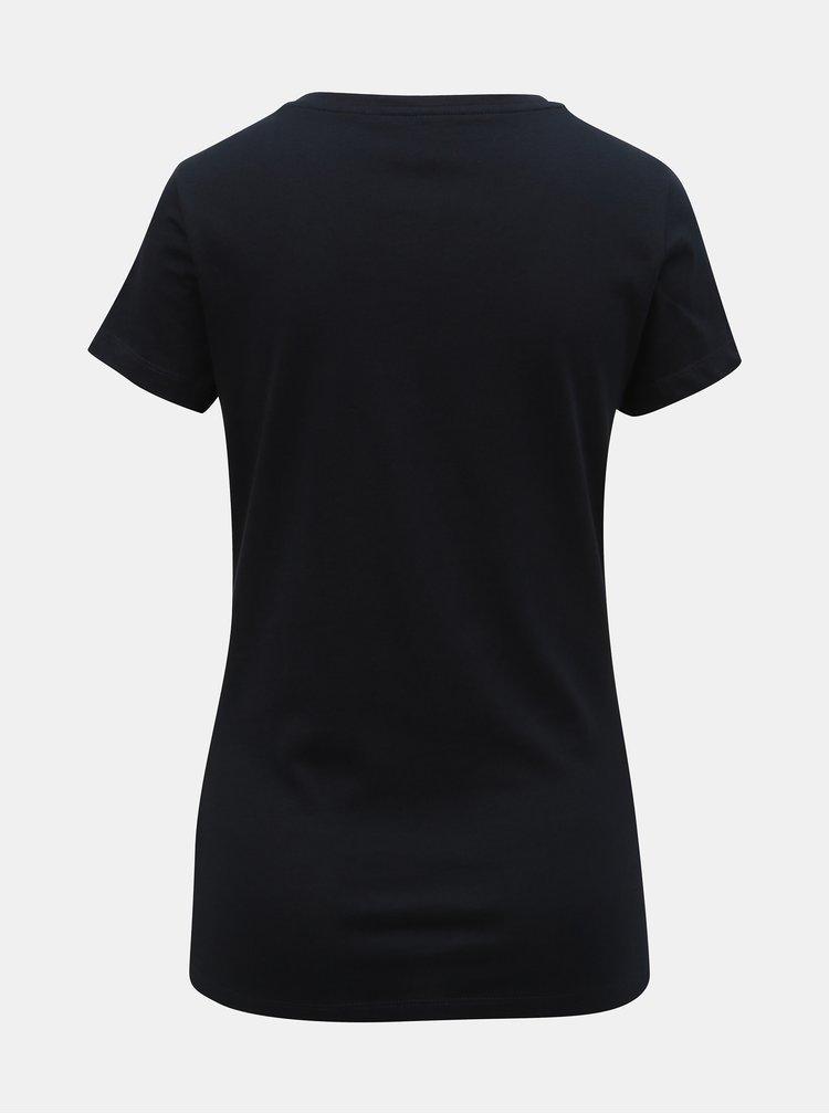 Tmavomodré tričko s potlačou ONLY Vibs