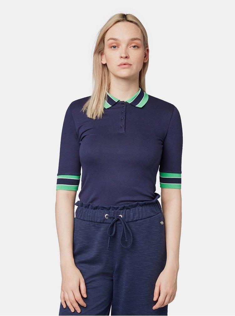 Tmavě modré dámské polo tričko Tom Tailor Denim