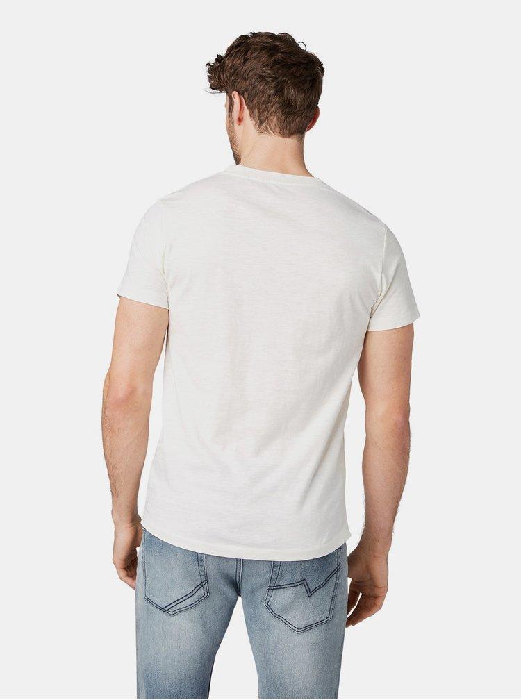 Tricou barbatesc alb Tom Tailor Denim
