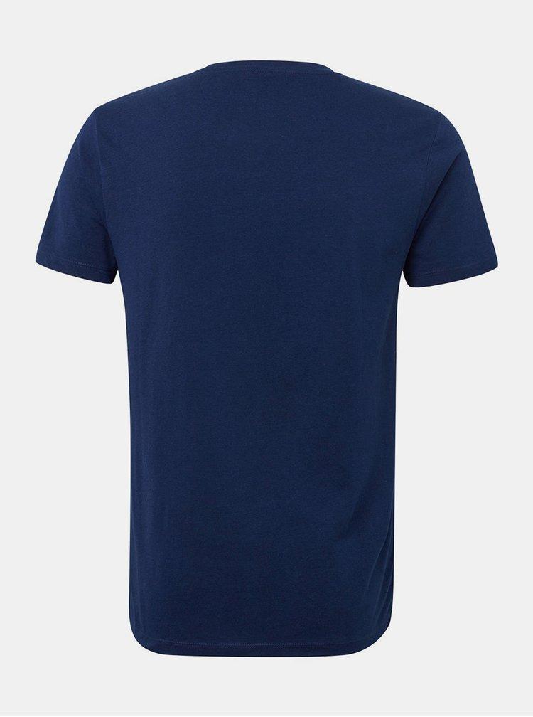 Tricou barbatesc albastru inchis Tom Tailor Denim