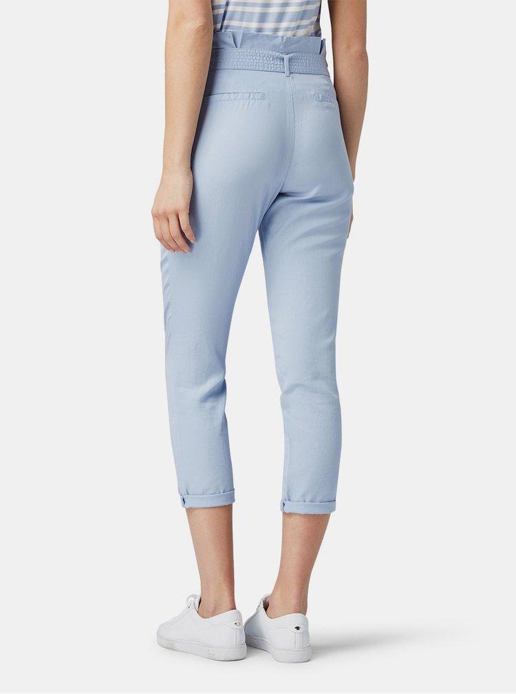 Modré dámské zkrácené kalhoty Tom Tailor