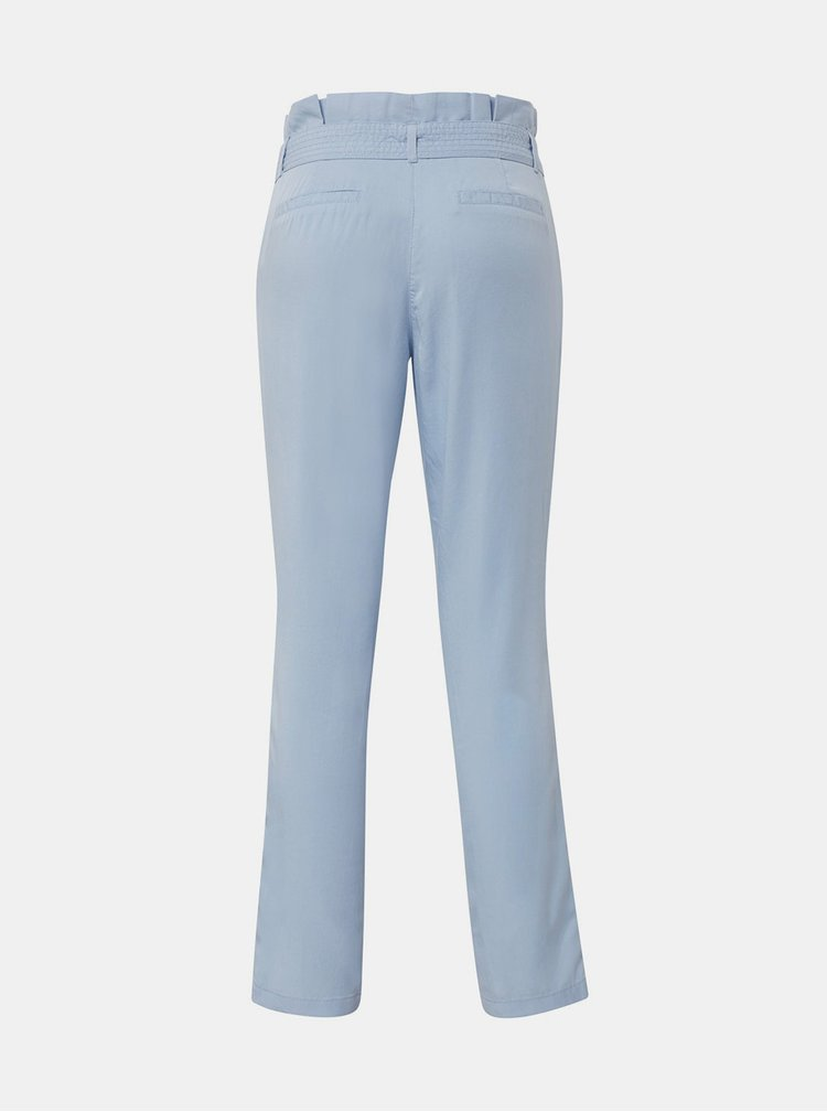 Pantaloni albastri de dama pana la glezne Tom Tailor