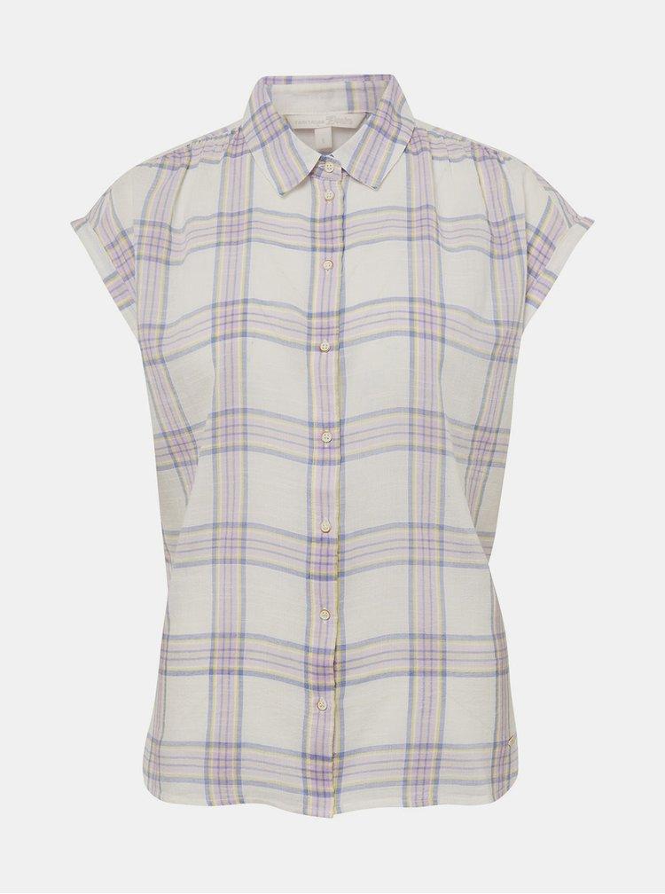Krémová dámská kostkovaná košile Tom Tailor Denim